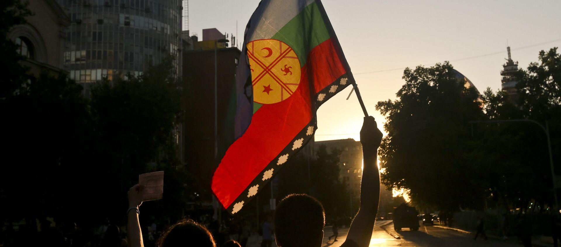 La bandera del pueblo mapuche - Sputnik Mundo, 1920, 04.08.2020