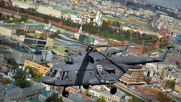 Un helicóptero Mi-8 sobre Moscú, foto archivo - Sputnik Mundo