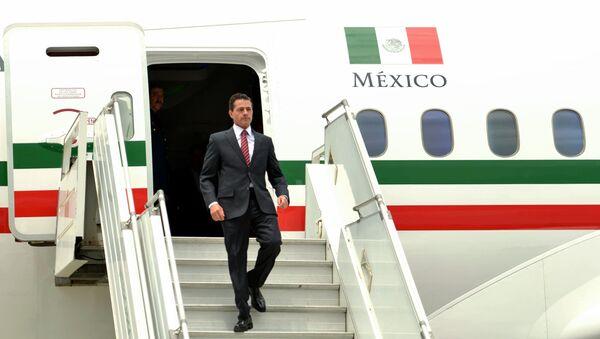 El expresidente de México, Enrique Peña Nieto, llega a Argentina - Sputnik Mundo