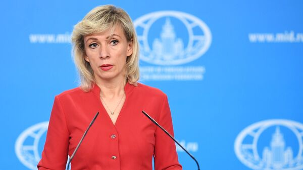 María Zajárova, la portavoz de la Cancillería rusa - Sputnik Mundo