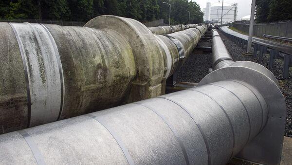 Unas tuberías que trasladan el gas natural licuado (archivo) - Sputnik Mundo