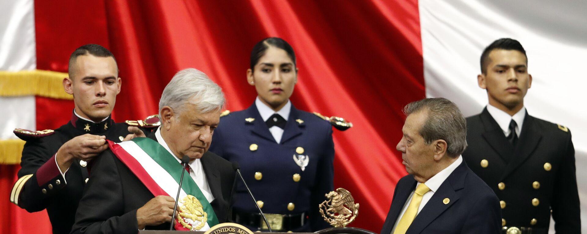 Andrés Manuel López Obrador toma posesión como presidente de México, 1 de diciembre de 2018 - Sputnik Mundo, 1920, 05.03.2021