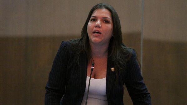 María Alejandra Vicuña, exvicepresidenta de Ecuador (Archivo) - Sputnik Mundo