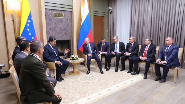 El presidente de Venezuela, Nicolás Maduro, y el presidente de Rusia, Vladímir Putin - Sputnik Mundo