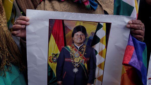 Una partidaria de Evo Morales, presidente de Bolivia - Sputnik Mundo