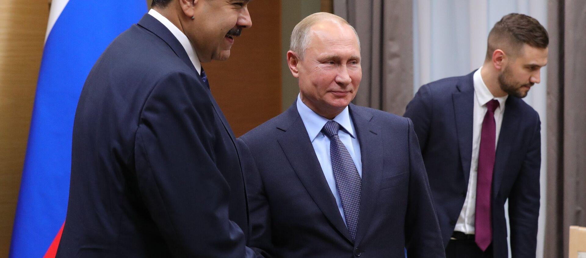 Nicolás Maduro, presidente de Venezuela; y Vladímir Putin, presidente de la Federación Rusa - Sputnik Mundo, 1920, 07.10.2020