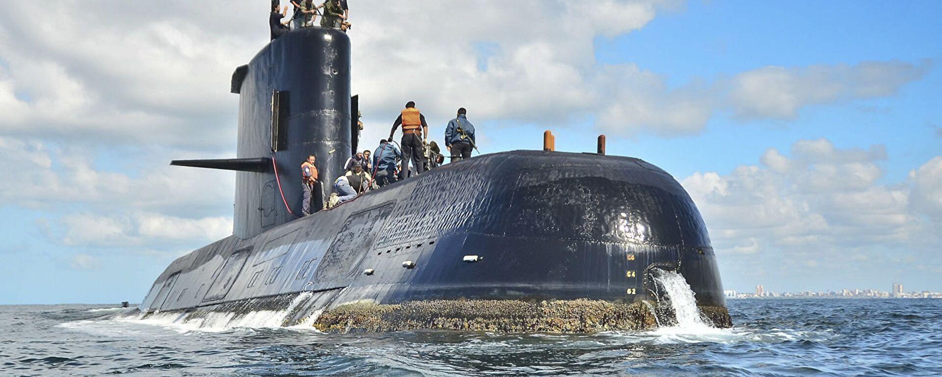 El submarino argentino ARA San Juan (archivo) - Sputnik Mundo, 1920, 25.02.2021