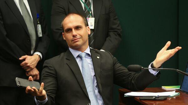 El diputado federal Eduardo Bolsonaro, hijo del presidente electo de Brasil Jair Bolsonaro - Sputnik Mundo