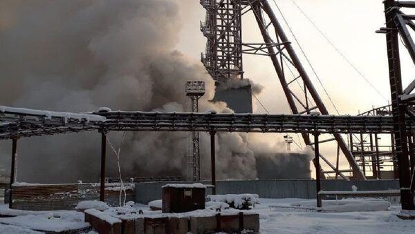 Incendio en una mina en Solikamsk - Sputnik Mundo