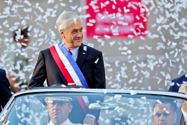 El 11 de marzo, el líder del Partido de Renovación Nacional, Sebastián Piñera asumió la presidencia de Chile, en reemplazo de Michelle Bachelet, quien gobernó el país desde 2014. - Sputnik Mundo