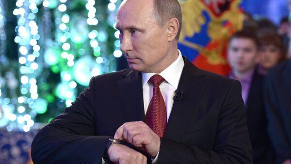 Vladímir Putin, presidente de Rusia, se prepara para el discurso de Año Nuevo - Sputnik Mundo