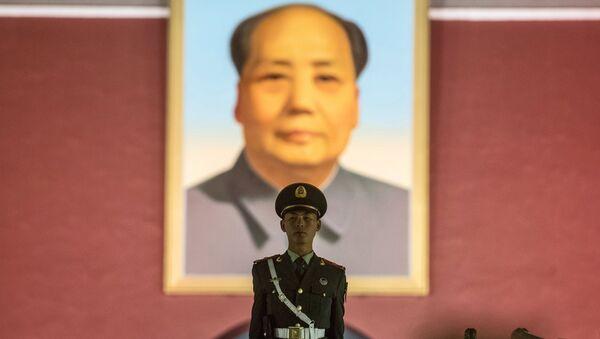 Un retrato de Mao Zedong en la Ciudad Prohibida de Pekín - Sputnik Mundo
