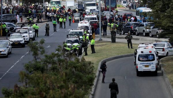 El lugar de coche bomba en Bogotá, Colombia - Sputnik Mundo
