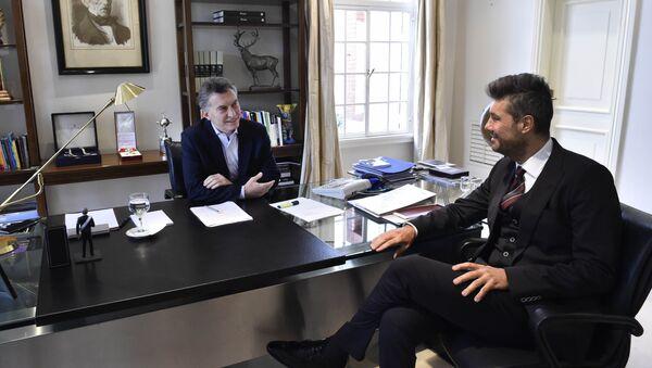 Mauricio Macri, actual presidente de Argentina, y Marcelo Tinelli, conductor televisivo, en la Quinta de Olivos - Sputnik Mundo