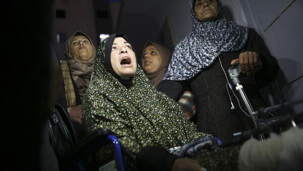 Mujeres en un hospital de Palestina - Sputnik Mundo