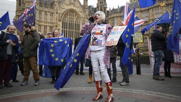 Protestas contra el Brexit - Sputnik Mundo