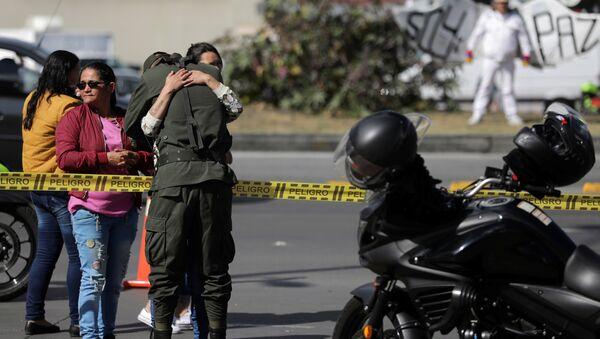Los policías de Colombia en el lugar del atentado en Bogotá - Sputnik Mundo