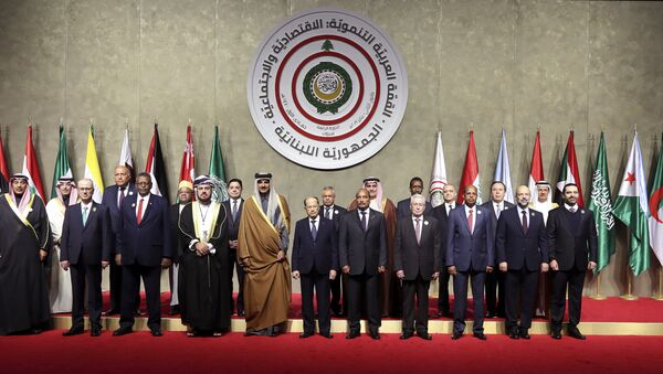 Delegaciones participantes en la cumbre económica de la Liga Árabe en Beirut - Sputnik Mundo