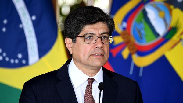 El canciller de Ecuador, José Valencia - Sputnik Mundo