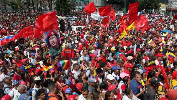 Una manifestación en apoyo a Nicolás Maduro en Venezuela - Sputnik Mundo
