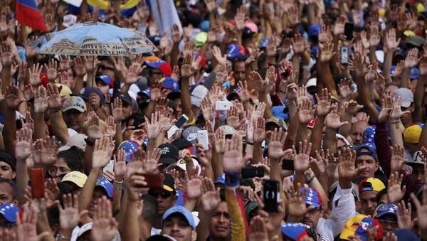 Protesta antigubernamental en Venezuela - Sputnik Mundo