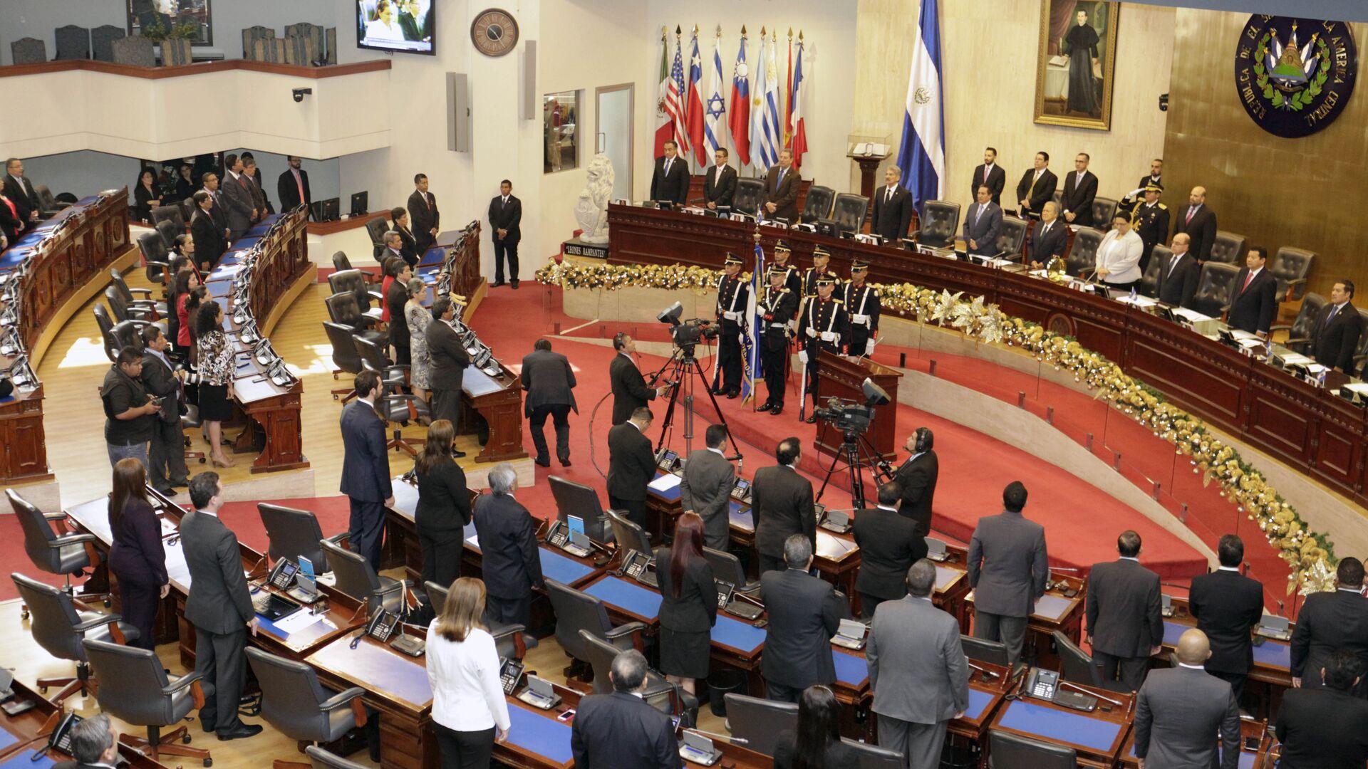 Salón de sesiones de la Asamblea Legislativa (parlamento) de El Salvador (Archivo) - Sputnik Mundo, 1920, 12.03.2021