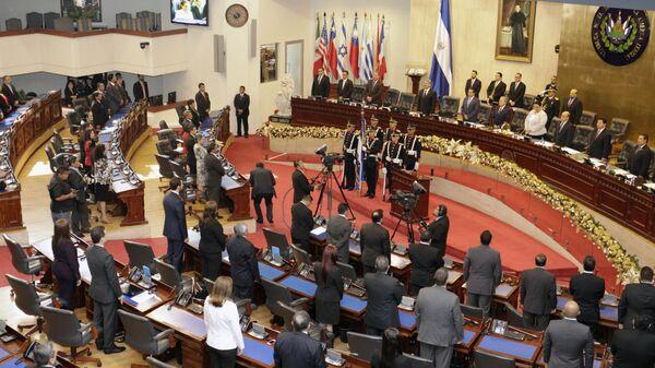 Salón de sesiones de la Asamblea Legislativa (parlamento) de El Salvador (Archivo) - Sputnik Mundo