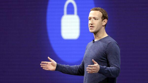 Mark Zuckerberg, fundador de Facebook (archivo) - Sputnik Mundo