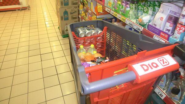 Сarrito de compras del supermercado Dia - Sputnik Mundo