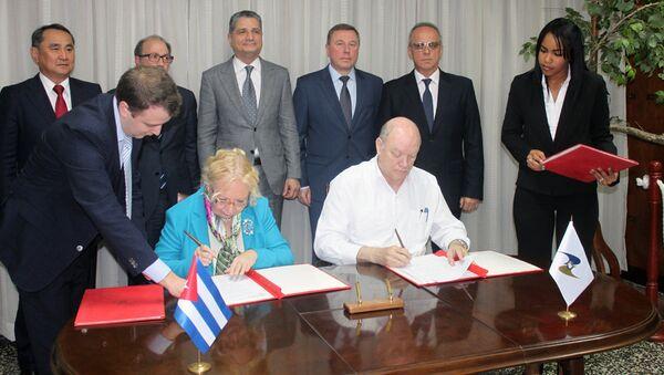 Cuba y Comisión Económica Euroasiática suscriben plan de acción para 2019 - Sputnik Mundo