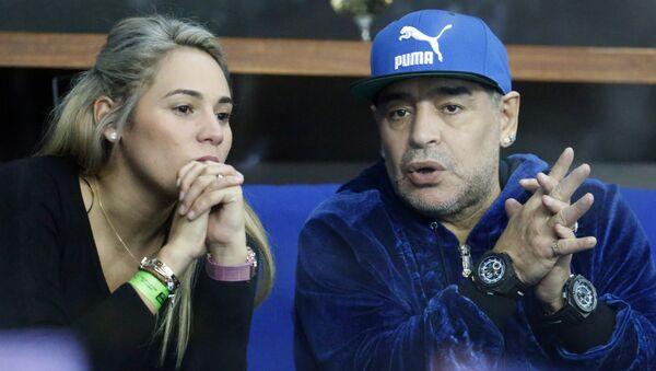 Diego Maradona y Rocio Oliva (archivo) - Sputnik Mundo