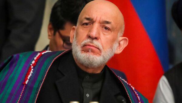Hamid Karzai, expresidente afgano, en Moscú - Sputnik Mundo