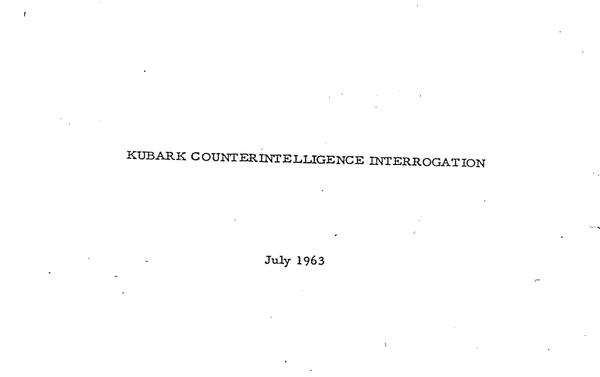 El primer manual de conducta interrogatorio, Kurbark Counterintelligence Interrogation, July 1963 - Sputnik Mundo