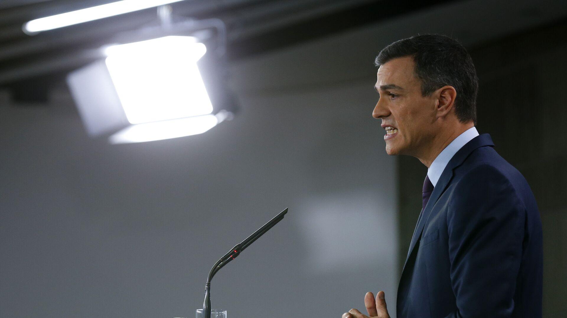 Pedro Sánchez, presidente del Gobierno de España - Sputnik Mundo, 1920, 22.09.2021