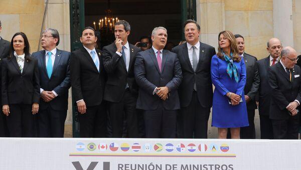 Reunión del Grupo de Lima en Bogotá - Sputnik Mundo