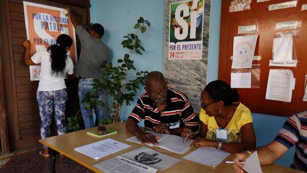El referéndum sobre la nueva Constitución de Cuba - Sputnik Mundo
