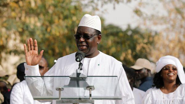Macky Sall, el presidente de Senegal - Sputnik Mundo