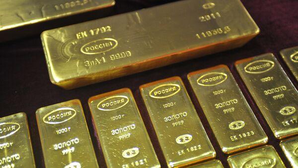 Lingotes de oro (archivo) - Sputnik Mundo