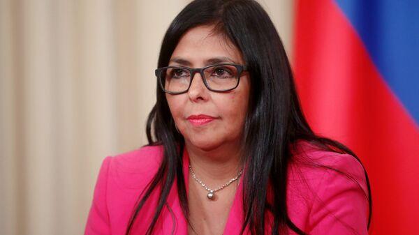 Delcy Rodríguez, vicepresidenta de Venezuela - Sputnik Mundo