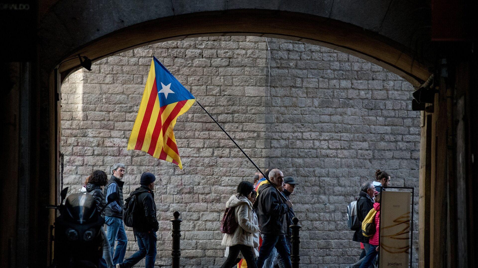 Manifestación independentista en Barcelona - Sputnik Mundo, 1920, 08.02.2021