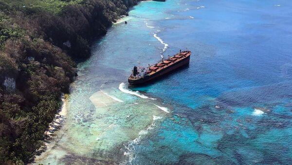 El buque Solomon Trader tras la avería cerca de las islas Salomón - Sputnik Mundo