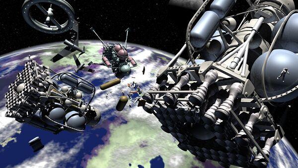 Objetos en órbita terrestre (ilustración) - Sputnik Mundo
