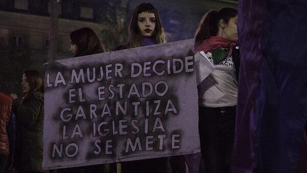 Marcha Ni Una Menos en Buenos Aires 2017 - Sputnik Mundo