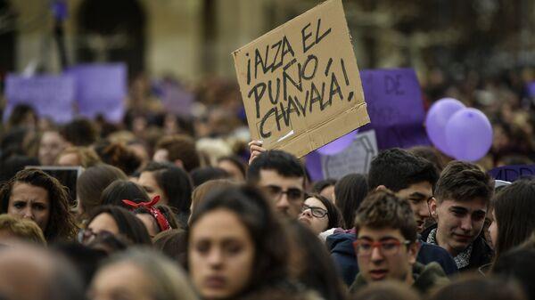 Marcha feminista del Día Internacional de la Mujer en España (archivo) - Sputnik Mundo
