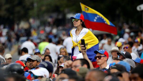 Movilización opositora en Caracas - Sputnik Mundo