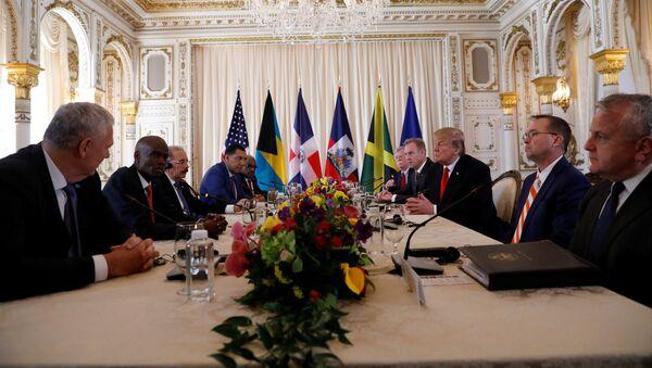El encuentro de Trump con líderes de Bahamas, Haití, República Dominicana, Jamaica y Santa Lucía - Sputnik Mundo