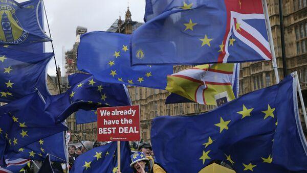 Protesta contra el Brexit - Sputnik Mundo