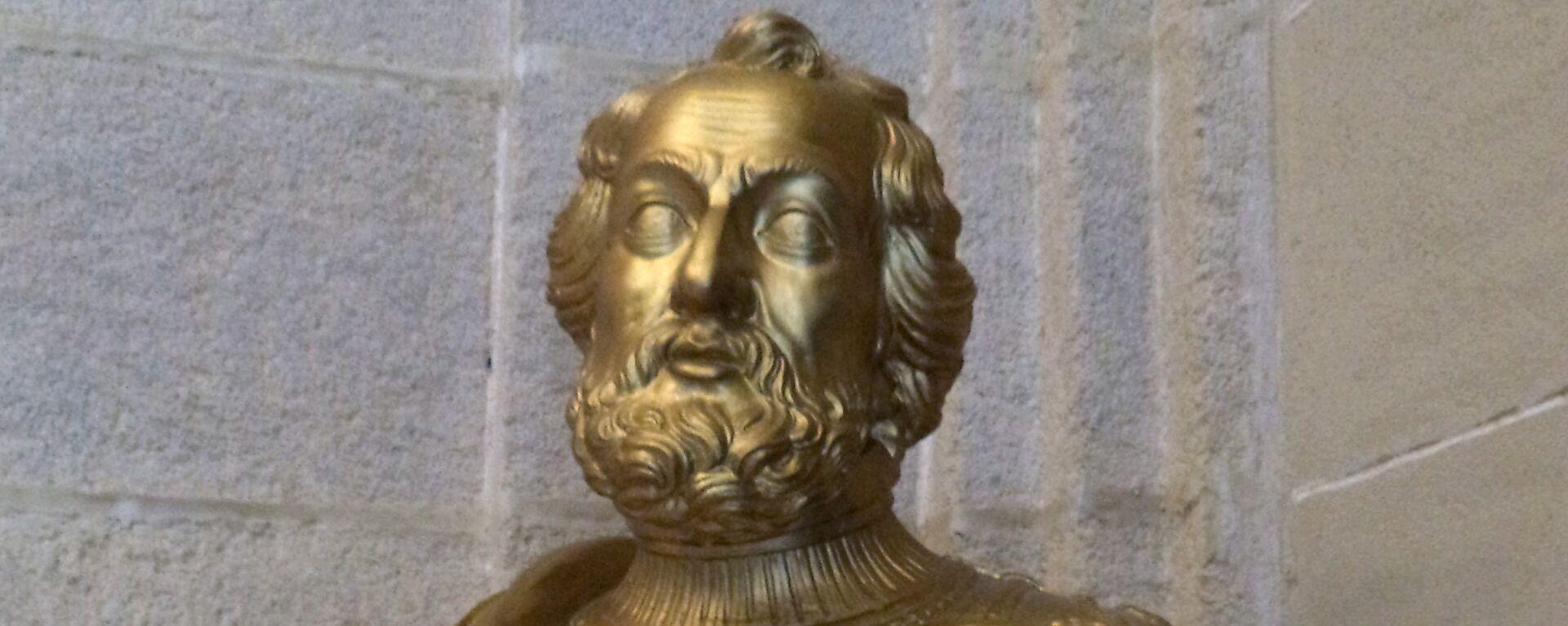 Busto de Hernán Cortés en el Archivo de Indias de Sevilla - Sputnik Mundo, 1920, 15.09.2020