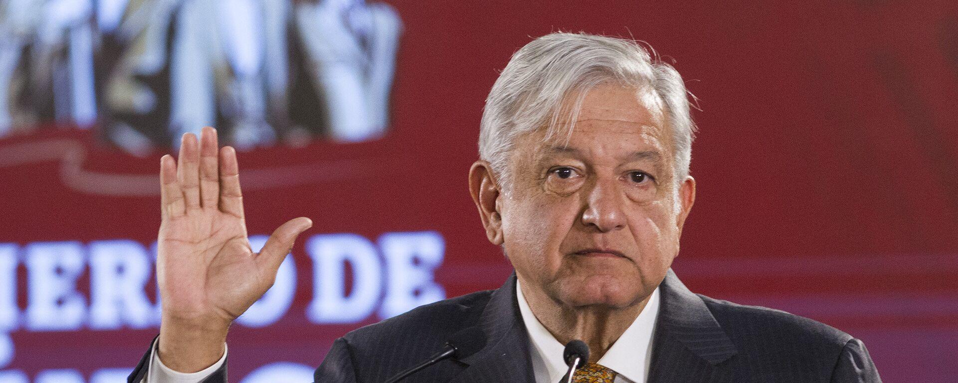 Andrés Manuel López Obrador, presidente de México  - Sputnik Mundo, 1920, 20.08.2021