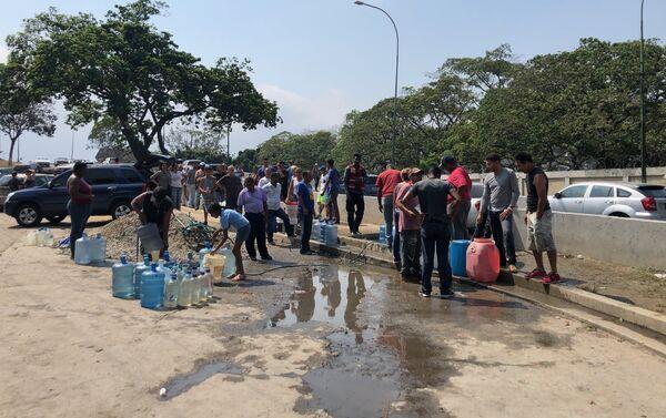 El bombeo de agua requiere buena parte de la electricidad que se consume en Caracas - Sputnik Mundo